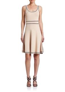 Alice + Olivia Heather Scoopneck Dress