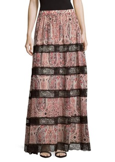 Alice + Olivia Hetty Embroidered Maxi Skirt