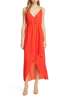 Alice + Olivia High/Low Faux Wrap Dress