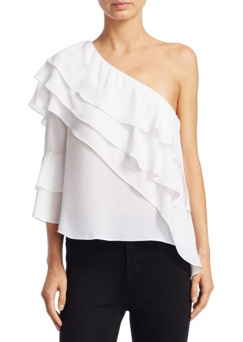 Alice + Olivia Hilaria One-Shoulder Top