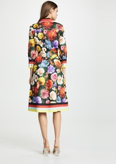 alice + olivia Hiroko Blouson Sleeve Shirt Dress