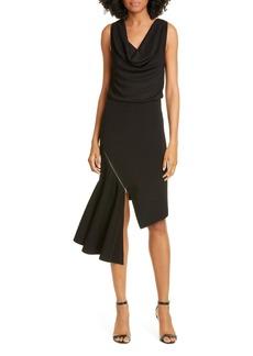 Alice + Olivia Hollis Cascade Asymmetrical Dress