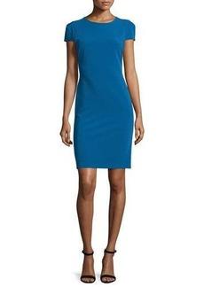 Alice + Olivia Hollis Lace-Back Short-Sleeve Sheath Dress