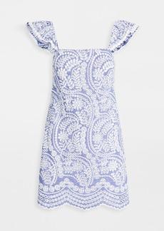 alice + olivia Honor Flutter Sleeve Tunic Dress