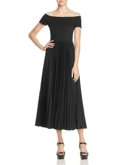Alice + Olivia Ilana Off-the-Shoulder Dress