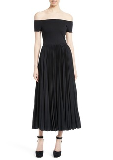 Alice + Olivia Ilana Off the Shoulder Maxi Dress