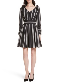 Alice + Olivia Iliana Stripe Fit & Flare Dress