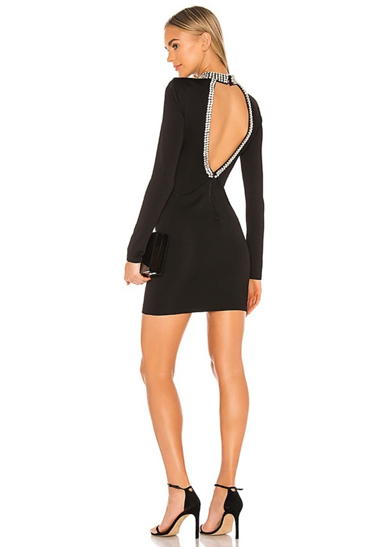 Alice + Olivia Inka Embellished Long Sleeve Dress