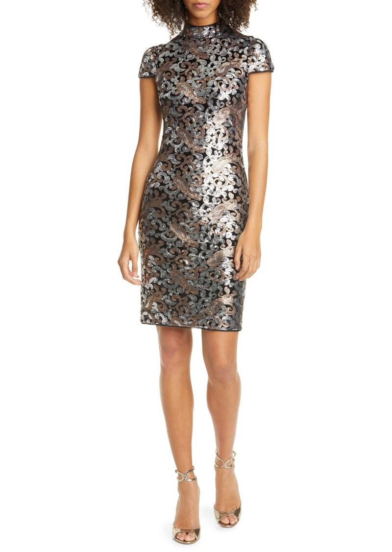 Alice + Olivia Inka Sequin Swirl Dress