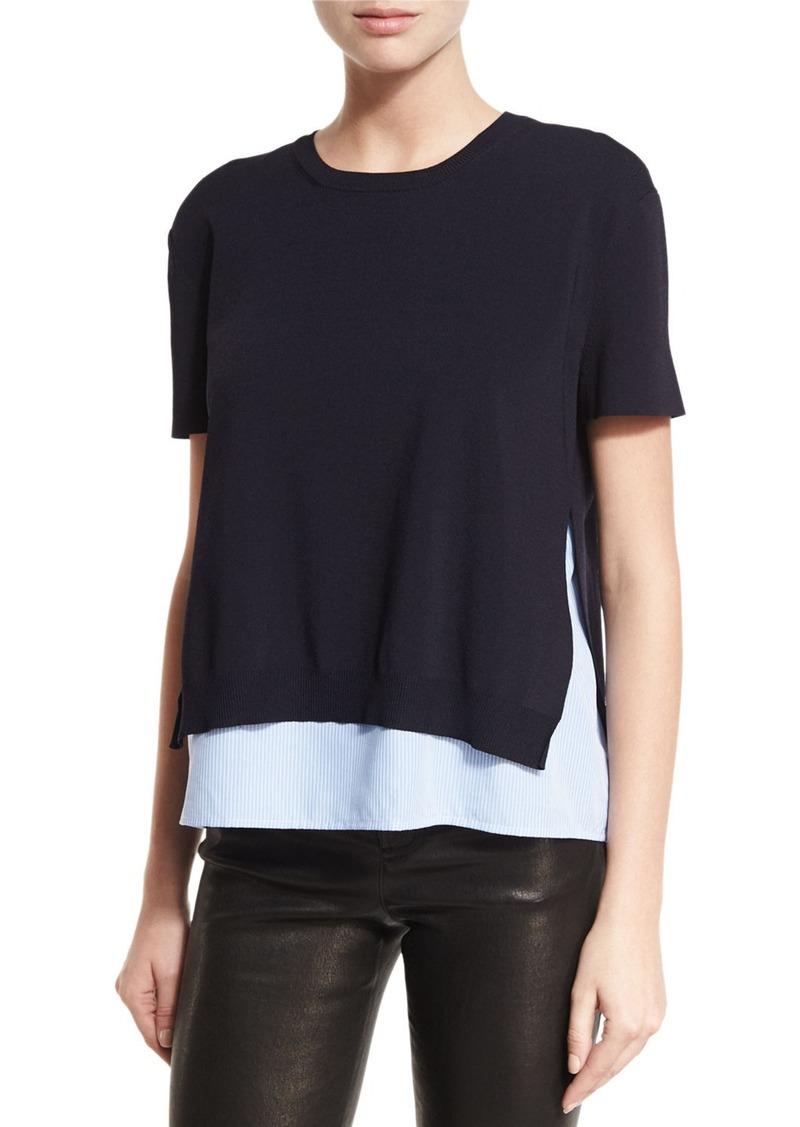 Iva Sleeve SaleAliceOlivia Short Sweater Layered SMpUzGqV