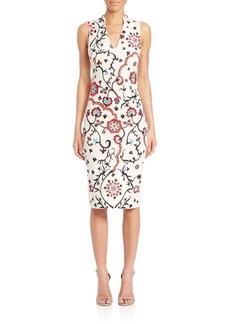 Alice + Olivia Jacki Emboidered Sheath Dress