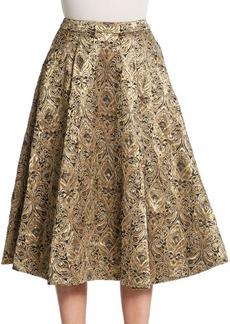 Alice + Olivia Jacquard Pleated Skirt