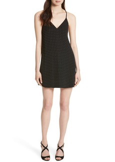 Alice + Olivia Jameson Studded Y-Back Silk Slipdress