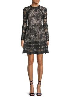 Janae Floral Lace A-Line Dress