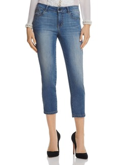 Alice + Olivia Jane Chain-Detail Cropped Jeans in Vintage Wash