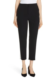 Alice + Olivia Jason Side Stripe Straight Leg Pants