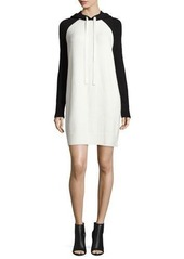 Alice + Olivia Jaxson Raglan Hoodie Dress