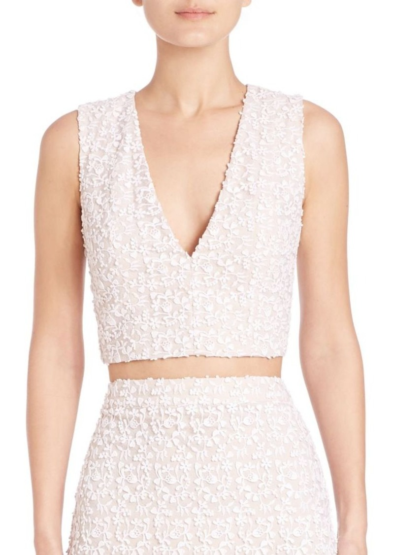 Alice + Olivia Jaya Crop Top