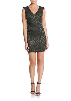 Alice + Olivia Jayda Leopard Jacquard Body-Con Dress