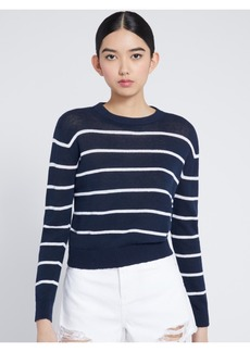 alice + olivia JEANE STRIPED PULLOVER
