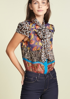 alice + olivia Jeannie Bow Blouse