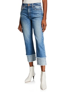 ALICE + OLIVIA JEANS Amazing High-Rise Double-Hem Cropped Jeans