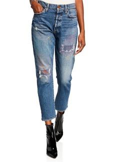 ALICE + OLIVIA JEANS Amazing High-Rise Slim Girlfriend Jeans