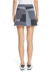 Alice + Olivia Jeans Amazing Patchwork Denim Miniskirt