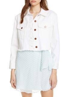 Alice + Olivia Jeans Crop Denim Jacket