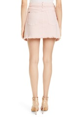 Alice + Olivia Jeans Good Exposed Button High Waist Skirt