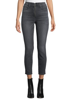ALICE + OLIVIA JEANS Good High-Rise Ankle Skinny Jeans with Exposed Zip Fly