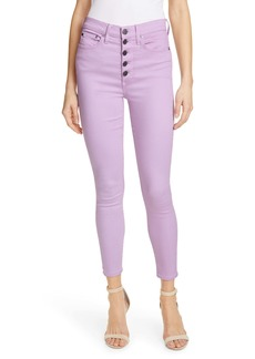 Alice + Olivia Jeans Good High Waist Ankle Skinny Jeans (Orchid)