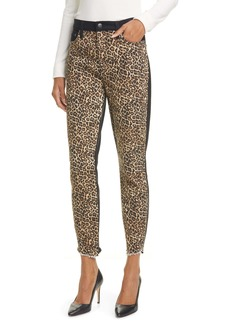 Alice + Olivia Jeans Good High Waist Leopard Print Skinny Jeans (Queen of the Night)