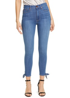 Alice + Olivia Jeans Good High Waist Tie Cuff Ankle Skinny Jeans (Heart and Soul)
