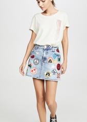 ALICE + OLIVIA JEANS Good High Waisted Skirt