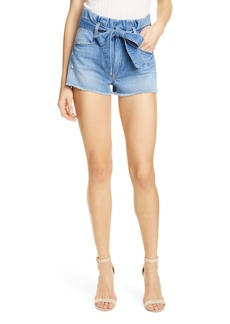 Alice + Olivia Jeans Good Paperbag Waist Denim Shorts (Suspicious)