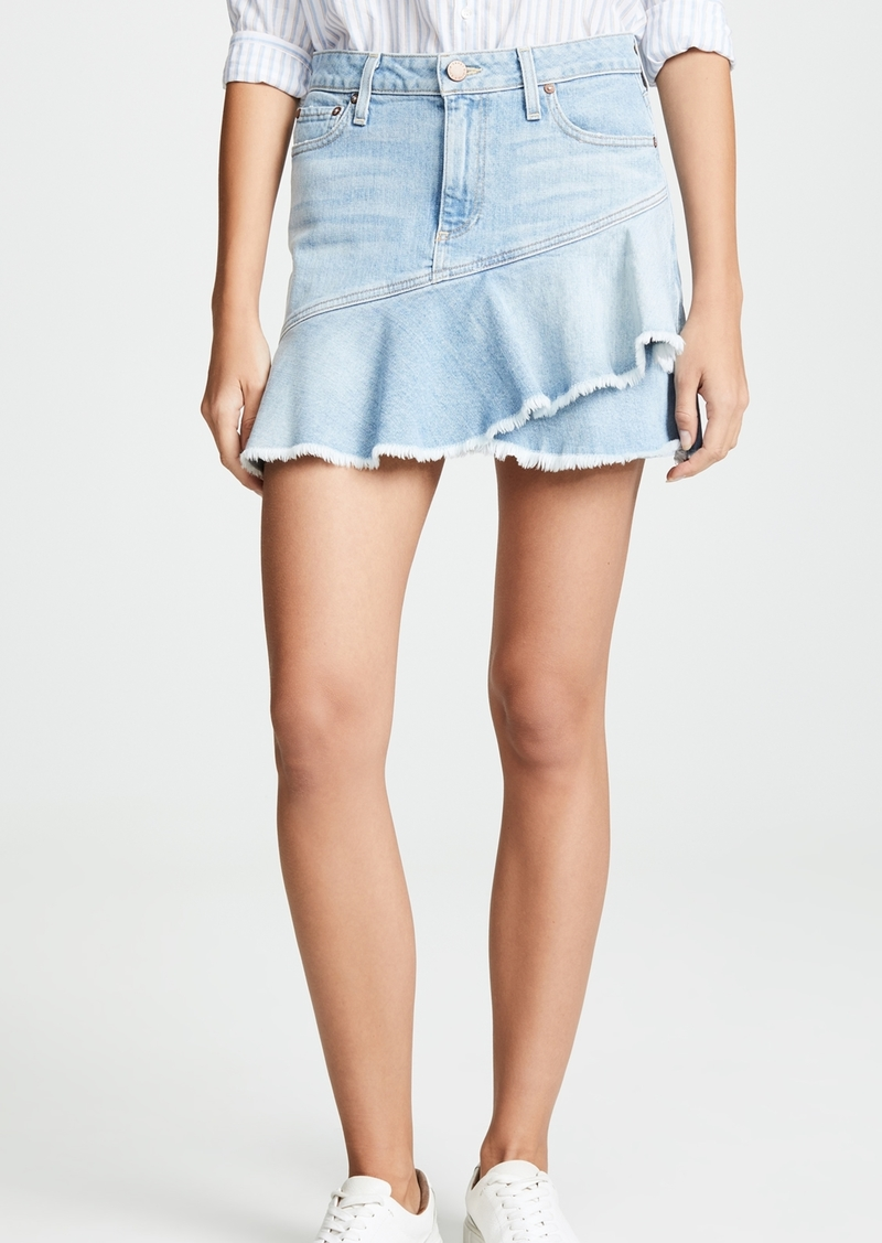 ALICE + OLIVIA JEANS Mini Flounce Ruffle Skirt