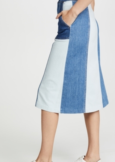 ALICE + OLIVIA JEANS Peri Midi Skirt with Pockets