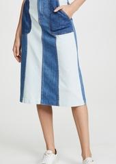 ALICE + OLIVIA JEANS Peri Midi Skirt with Pockets