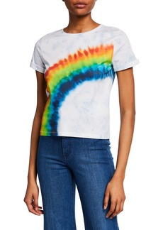 ALICE + OLIVIA JEANS Shira Roll-Sleeve Tee