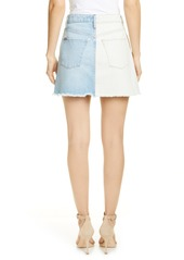 Alice + Olivia Jeans Two-Tone Denim Miniskirt
