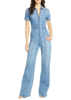 Alice + Olivia Jeans Wide Leg Denim Jumpsuit