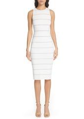 Alice + Olivia Jenner Lace Inset Sheath Dress