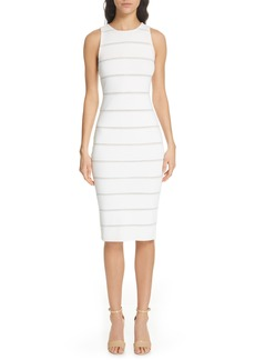 Alice + Olivia Jenner Lace Inset Sheath Dress