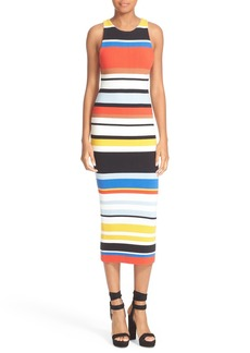 Alice + Olivia Jenner Stripe Knit Midi Dress
