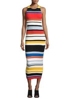 Alice + Olivia Jenner Striped Knit Midi Dress