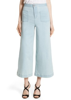 Alice + Olivia Johnny High Waist Flare Ankle Jeans