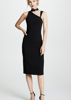 alice + olivia Jona Mock Neck Cutout Dress
