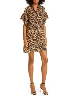 Alice + Olivia Jude Leopard Print Tunic Dress