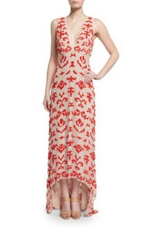 Alice + Olivia Juela Cutout High-Low Gown